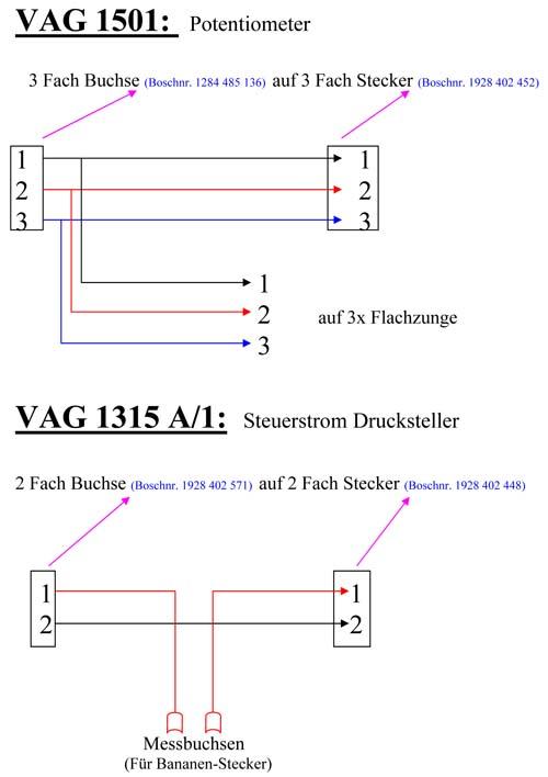 Mess Adapter VAG