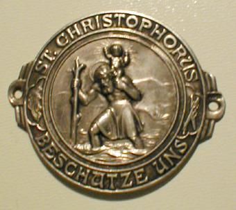 Christophorus Plakette